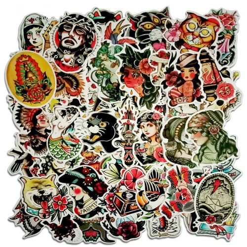 Traditional Tattoo Sticker Bomb