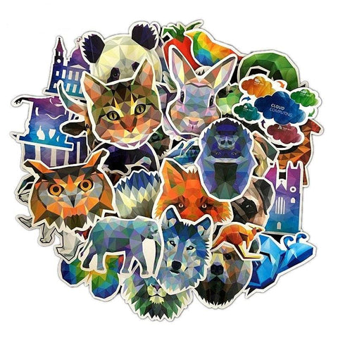 Animal Geometric Sticker Bomb - Expressionco