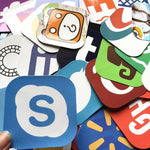 Social Media and brand logo Sticker Bombs - Expressionco