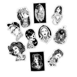 Black White Tattoo Girls Sticker Bomb - Expressionco