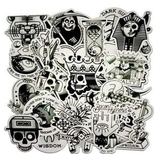 Black and White Sticker Bomb