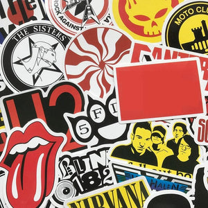 Rock Band Sticker Bomb