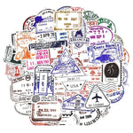 Travel Stamps Sticker Bomb - Expressionco