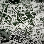 Black and White Sticker Bomb - Expressionco