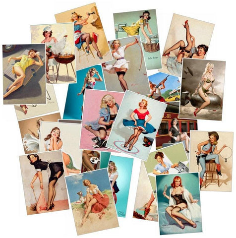 Retro Pinup Girls Sticker Bomb - Expressionco