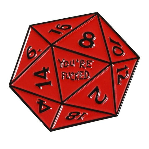 D20 Red Dice Pin - Expressionco