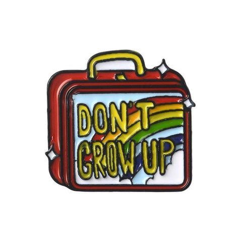 Don't Grow Up Lunchbox Pin - Expressionco