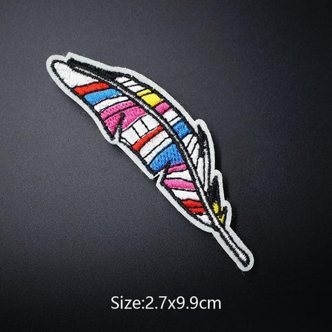 Colorful Feather Patch - Expressionco