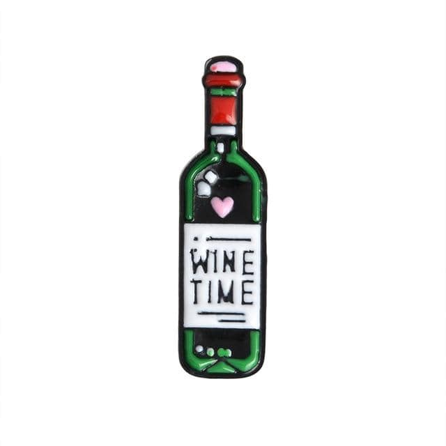 Wine Time Bottle Pin