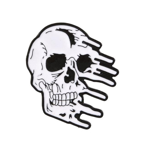 Melting Skull Pin - Expressionco