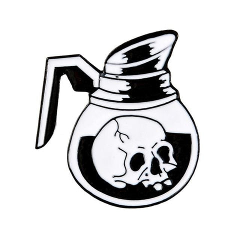 Coffee Pot Skull Pin - Expressionco