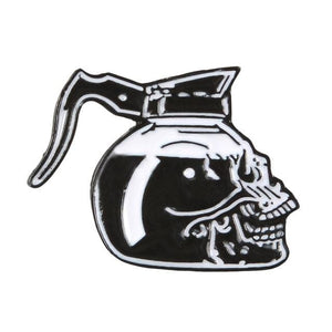 Skull Coffee Pot Pin