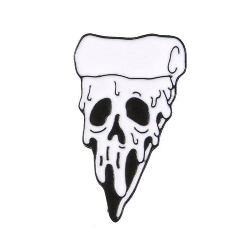 Pizza Skull Pin