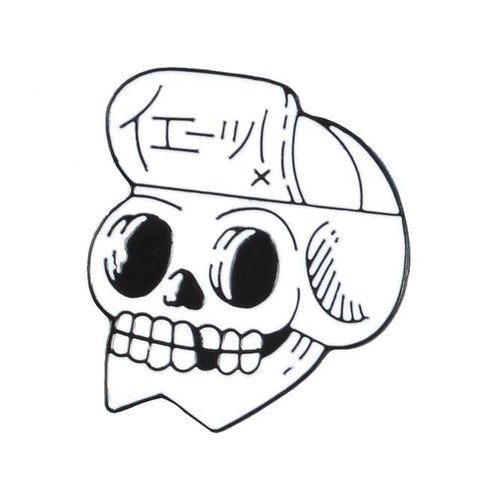 Skater Yeah Skull Pin - Expressionco