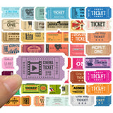 Admit One Cinema Ticket Sticker Bomb - Expressionco