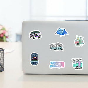 Camping Travel Sticker Bomb