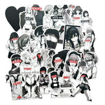 Black and White Waifu Anime Sticker Bomb - Expressionco