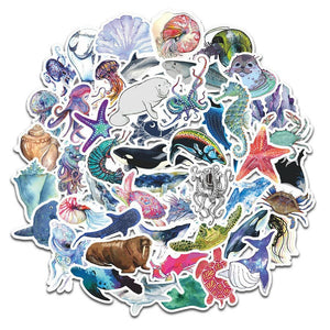 Marine Animals Sticker Bomb