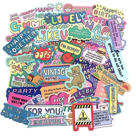 Words Cartoon Sticker Bomb - Expressionco