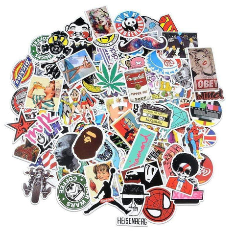 Sticker bomb, Sticker pack, bombing stickers, car laptop mac phone decals, Aesthetic Stickers - Expressionco