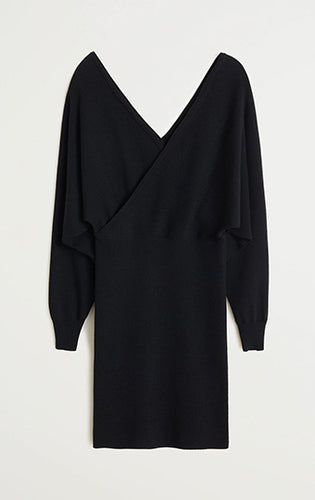 Black off shoulder Dress-M2