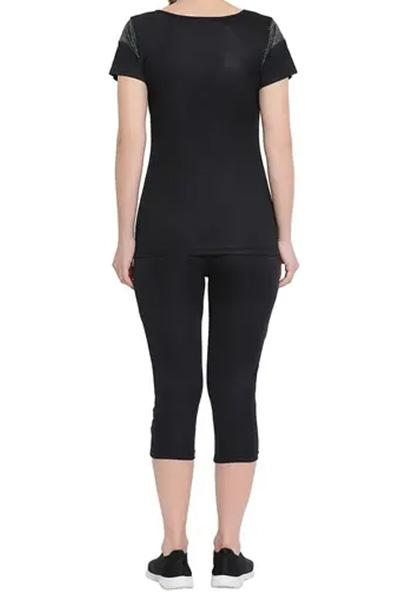 Gym Sports Active-wear Top with Capri