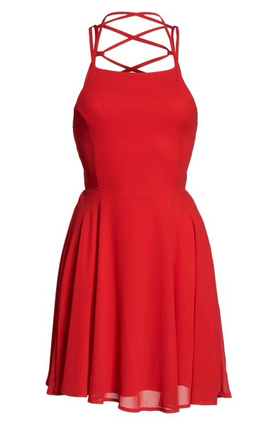 Stylish Backless Fashion Dress-M6