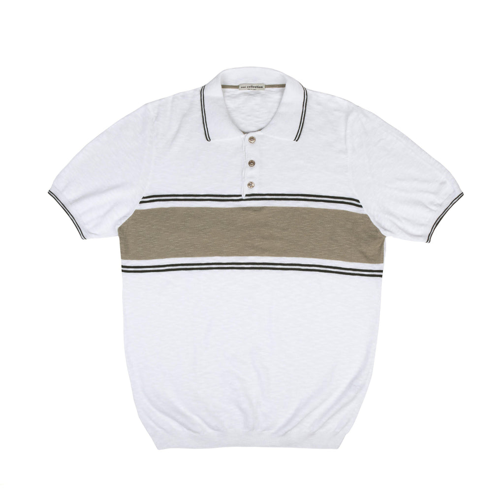 Polo Shirt With Beige Contrast - Noi Collection London