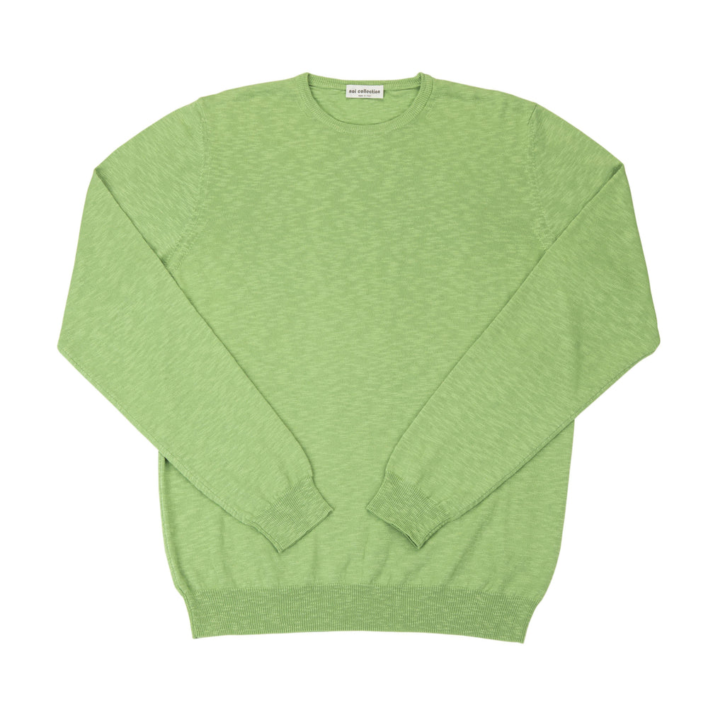 Crew Neck In Pea Green - Noi Collection London