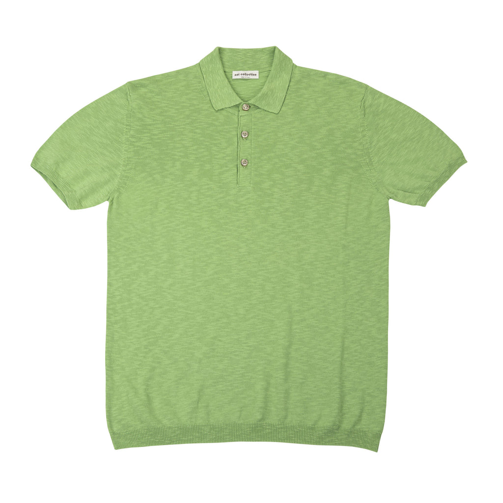 Polo Shirt In Pea Green