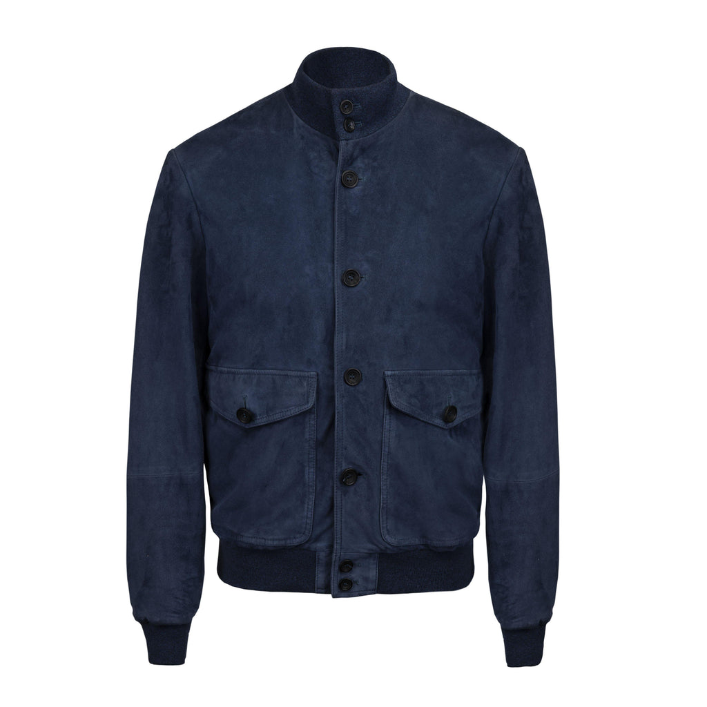 Suede Jacket In Royal Blue - Noi Collection London