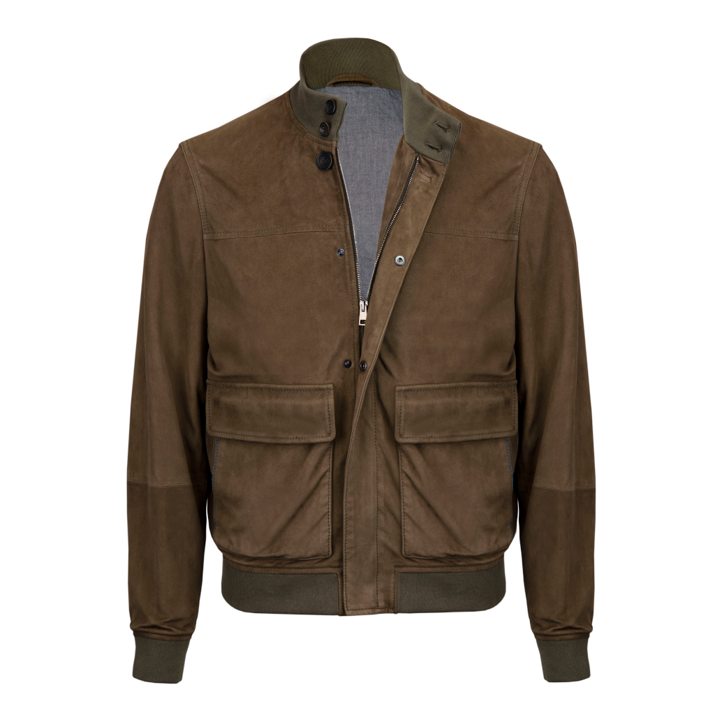 Suede Jacket In Tobacco