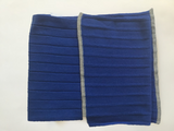 Cashmere And Wool Unisex Ribbed Scarf In Sapphire Blue - Noi Collection London