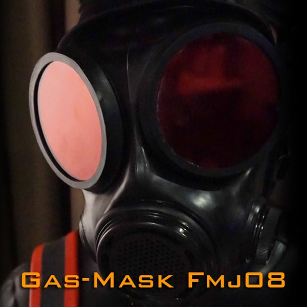 (FMJ08-1)Luxury Customize Handmade Latex Rubber Gas Mask Fetish Wear