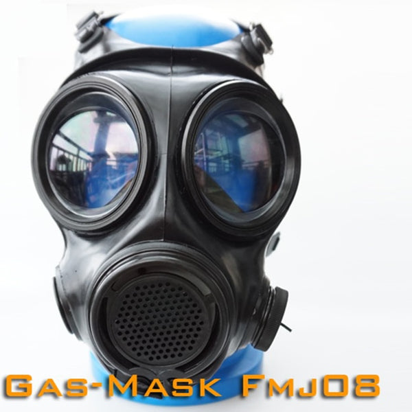 (FMJ08)Luxury Customize Handmade Latex Rubber Gas Mask Fetish Wear
