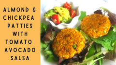 Almond & Chickpea Patties with Tomato Avocado Salsa