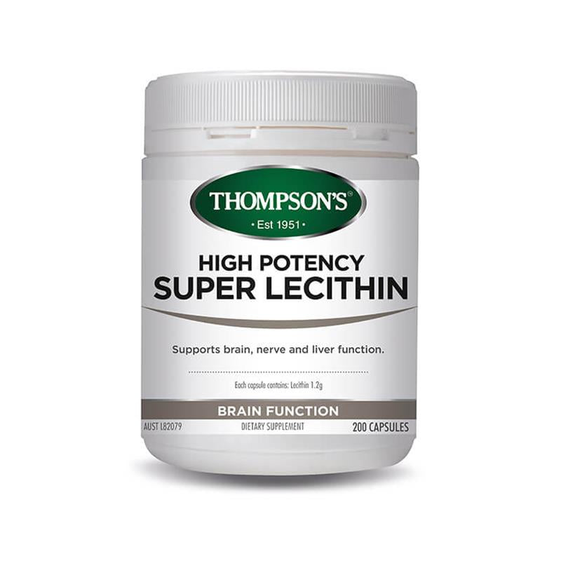 Thompsons High Potency Super Lecithin - Go Vita Batemans Bay