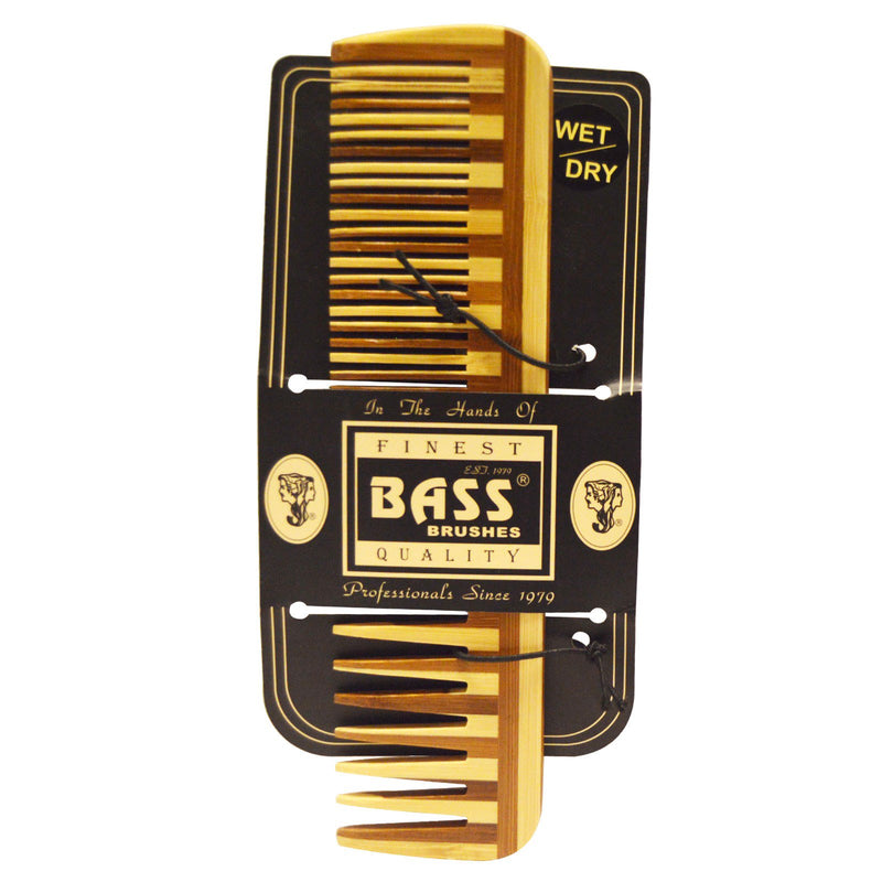 Bass Brushes Comb Bamboo Wide/Fine - Go Vita Batemans Bay