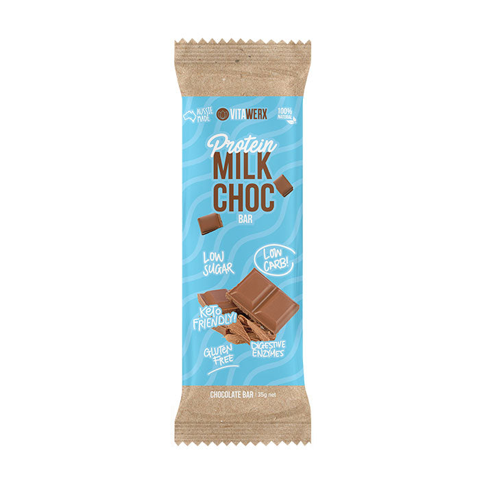 Vitaworx Protein Milk Chocolate Bars - Go Vita Batemans Bay