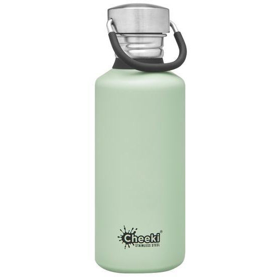 Cheeki Stainless Steel Single Wall Bottle 500mL - Pistachio - Go Vita Batemans Bay