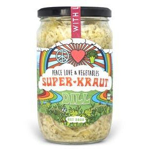 Peace Love & Vegetables Dill Superkraut - Go Vita Batemans Bay