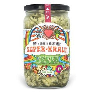 Peace Love & Vegetables Green Superkraut - Go Vita Batemans Bay