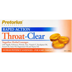 Pretorius Throat Clear Original Lozenges - Go Vita Batemans Bay