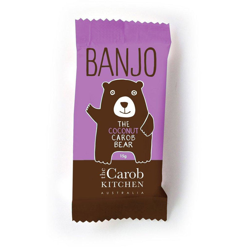The Carob Kitchen - Banjo The Carob Bear - Coconut - Go Vita Batemans Bay