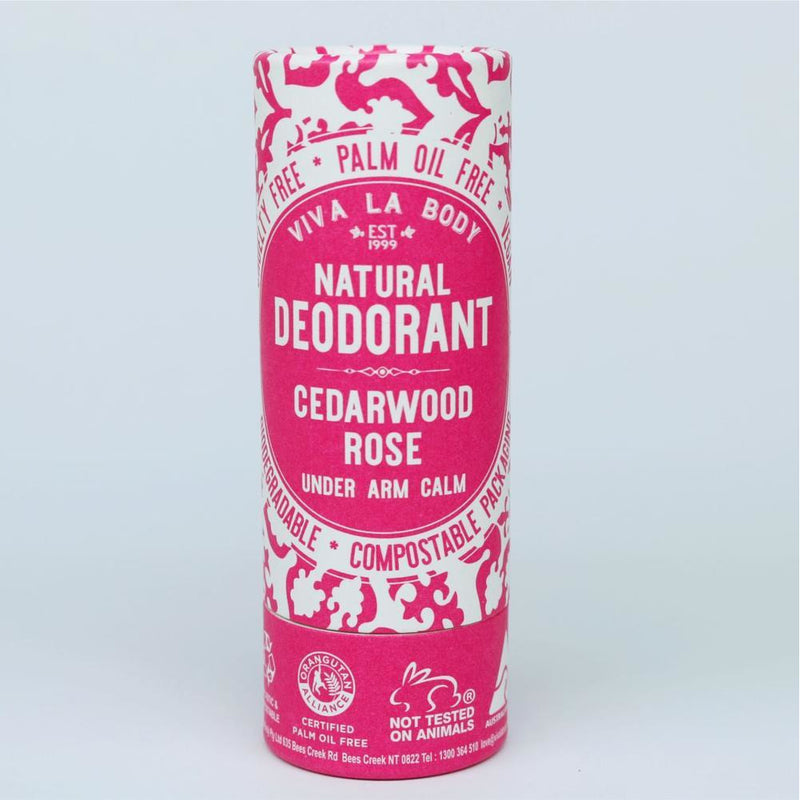 Viva La Body Natural Deodorant - Cedarwood Rose - Go Vita Batemans Bay
