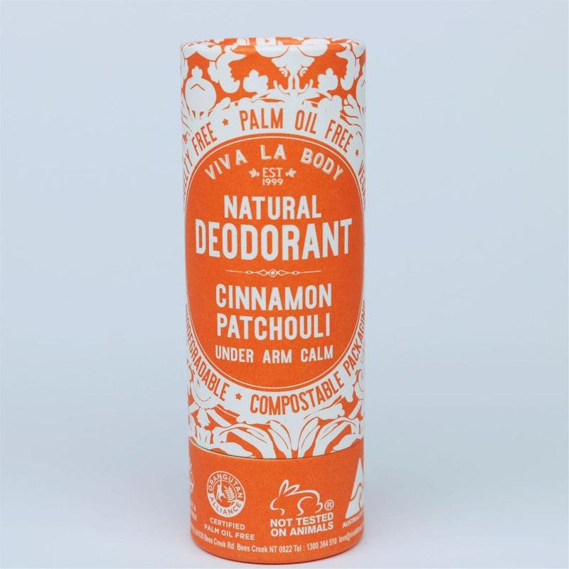 Viva La Body Natural Deodorant - Cinnamon Patchouli - Go Vita Batemans Bay