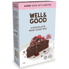 Well & Good Gluten Free Chocolate Mud Cake Mix - Go Vita Batemans Bay