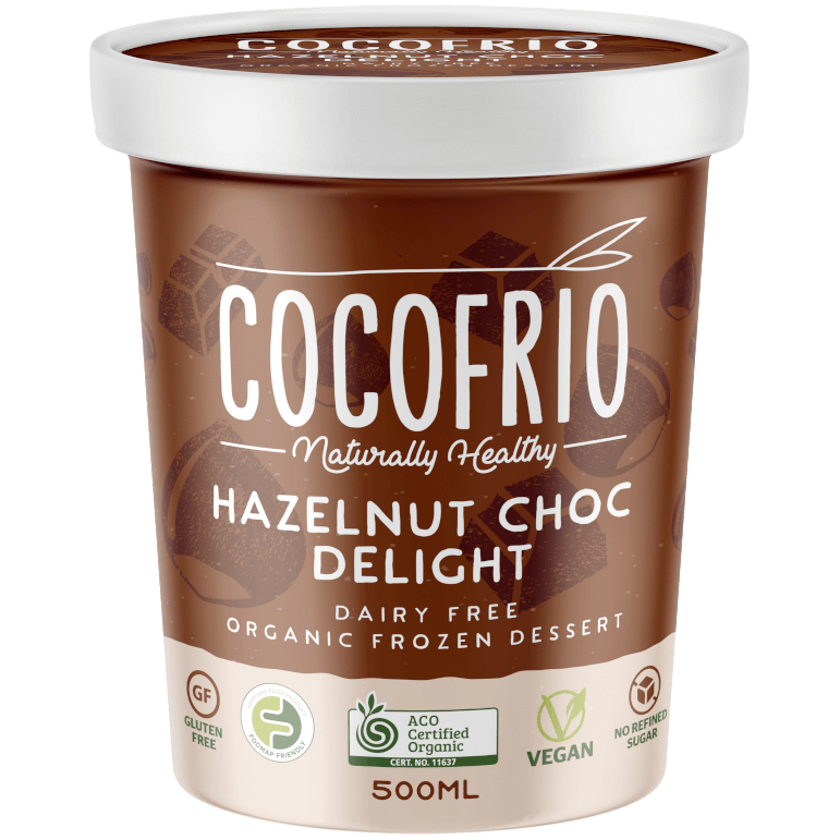 Cocofrio Hazelnut Choc Delight Vegan Ice Cream - Go Vita Batemans Bay