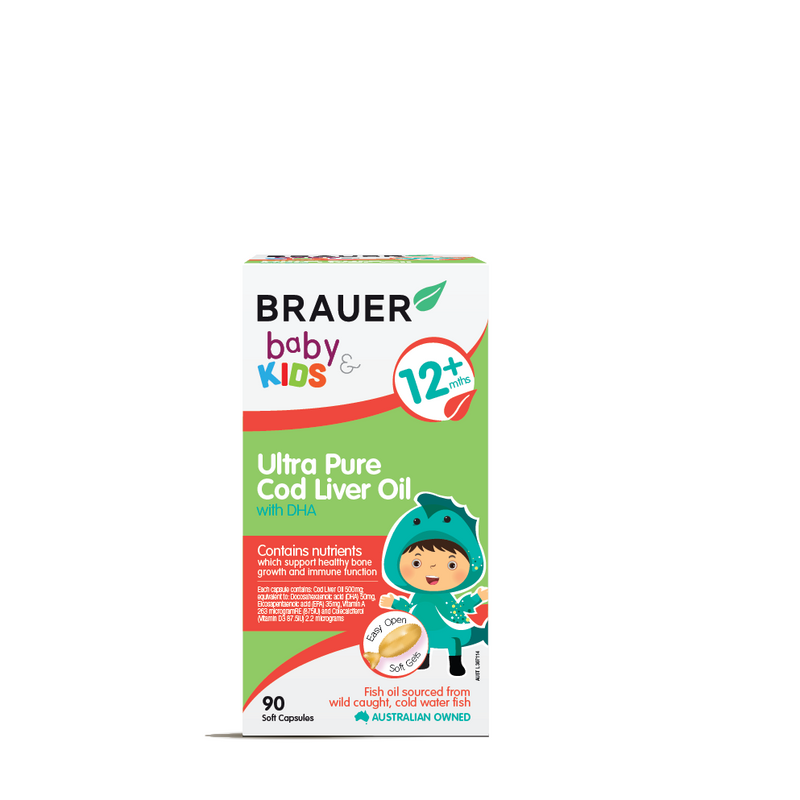 Brauer Baby & Kids Ultra Pure Cod Liver Oil with DHA - Go Vita Batemans Bay