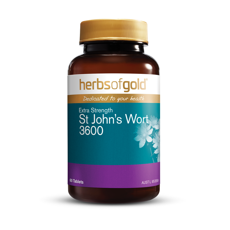 Herbs of Gold Extra Strength St John's Wort 3600 - Go Vita Batemans Bay
